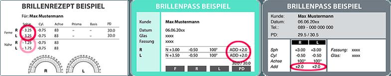 Umrechnen brillenstärke Kontaktlinsenwerte berechnen
