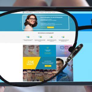 Einstärken Brillengläser mit Blaulichtfilter