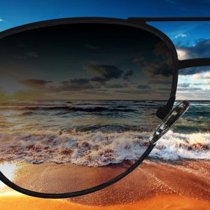 Einstärken Sonnenbrillengläser mit Farbverlauf