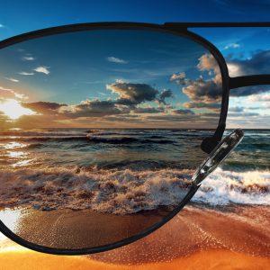 Einstärken Sonnenbrillengläser mit normaler Tönung