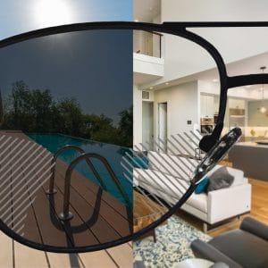 Selbsttönende Komfort Gleitsicht Sonnenbrillengläser