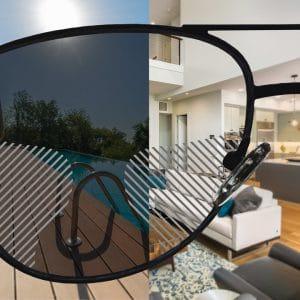 Selbsttönende Standard Gleitsicht Sonnenbrillengläser