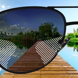 Komfort Gleitsicht Sonnenbrillengläser mit Farbverlauf