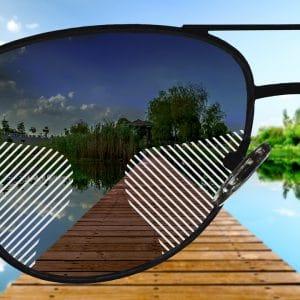 Standard Gleitsicht Sonnenbrillengläser mit Farbverlauf