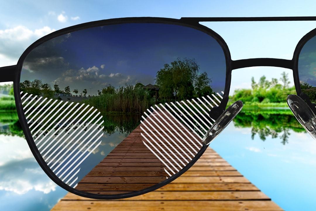 Sonnenbrillengläser mit Farbverlauf, Gleitsicht Standard