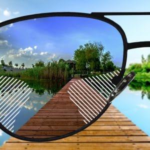 Komfort Gleitsicht Sonnenbrillengläser mit normaler Tönung