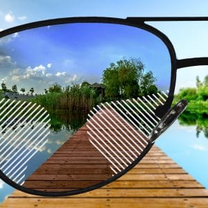 Standard Gleitsicht Sonnenbrillengläser mit normaler Tönung