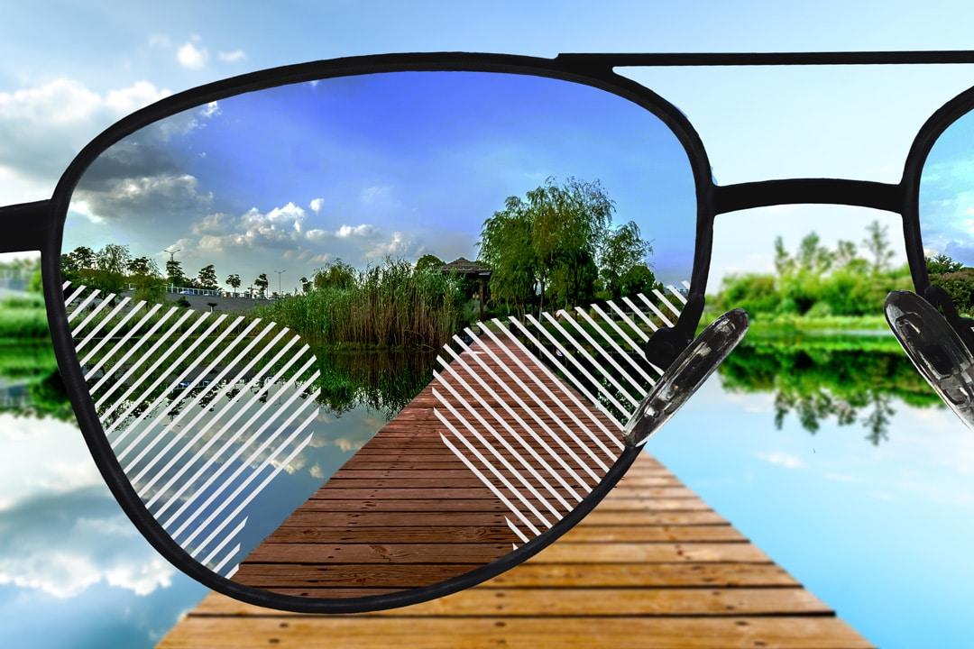 Sonnenbrillengläser mit normaler Tönung, Gleitsicht Standard