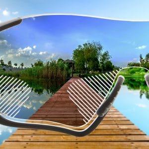 Komfort Gleitsicht Sonnenbrillengläser mit normaler Tönung für Sportfassungen