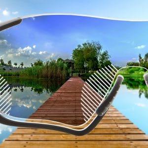 Premium Gleitsicht Sonnenbrillengläser mit normaler Tönung für Sportfassungen