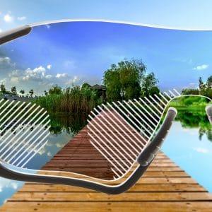 Standard Gleitsicht Sonnenbrillengläser mit normaler Tönung für Sportfassungen
