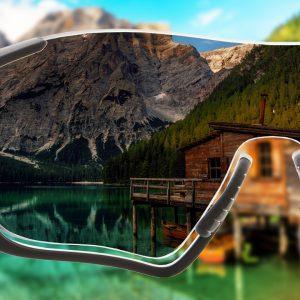 Einstärken Sonnenbrillengläser mit normaler Tönung für Sportfassungen