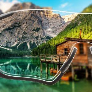 Einstärken Brillengläser für Sportfassungen