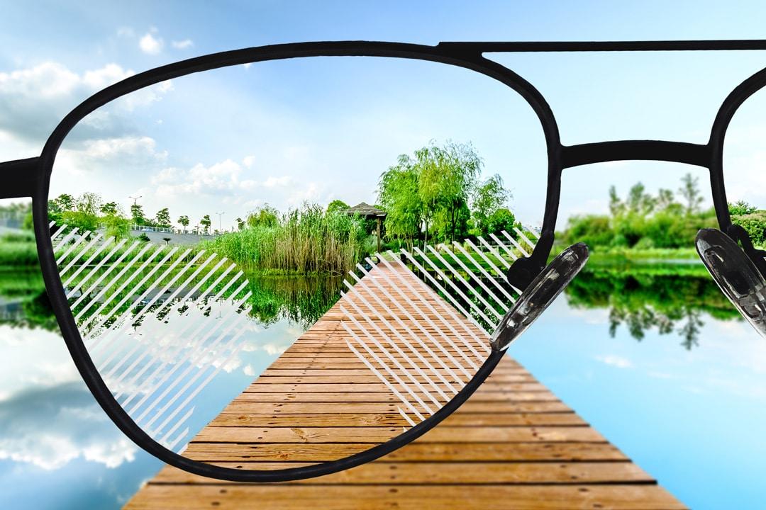 Polarisierte Sonnenbrillengläser, Gleitsicht Standard